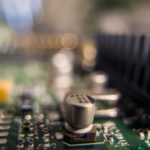 Microchips in computer   Free stock photo