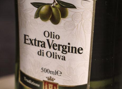 Olive oil in bottle