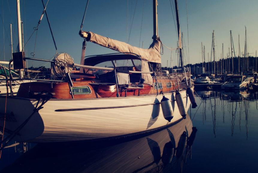 Free photo: Sailboat in marina