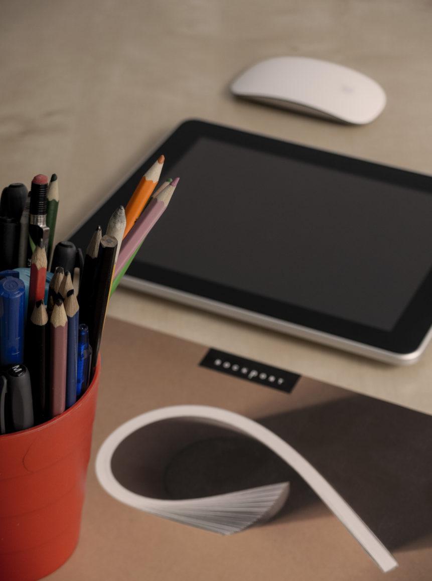 Free photo: Web designer work desk