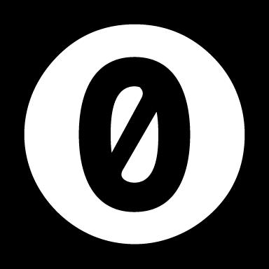 Zero license - logo