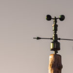 Anemometer with the sky   Free Stock Photo