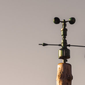 Anemometer with the sky | Free Stock Photo