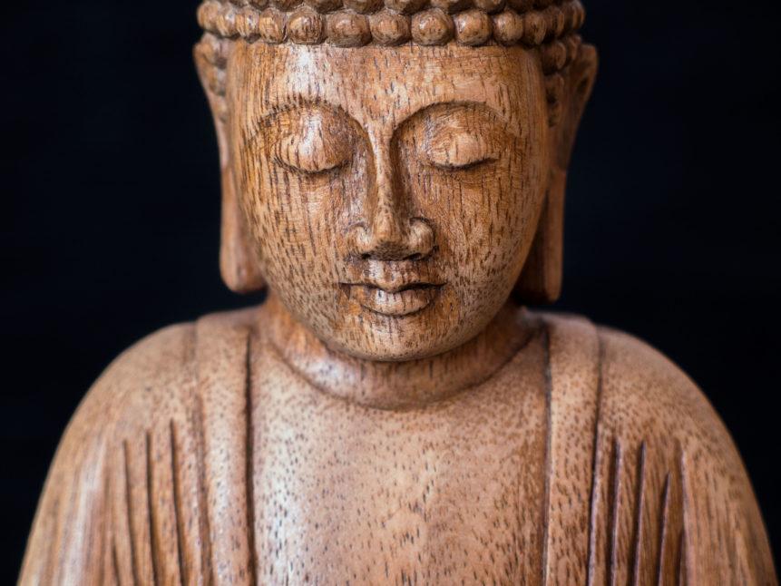 Wooden statue of the Buddha - Sidhartha Gautama