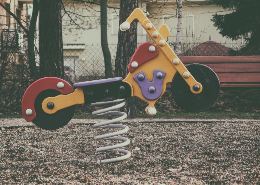 Motorbike on children playground