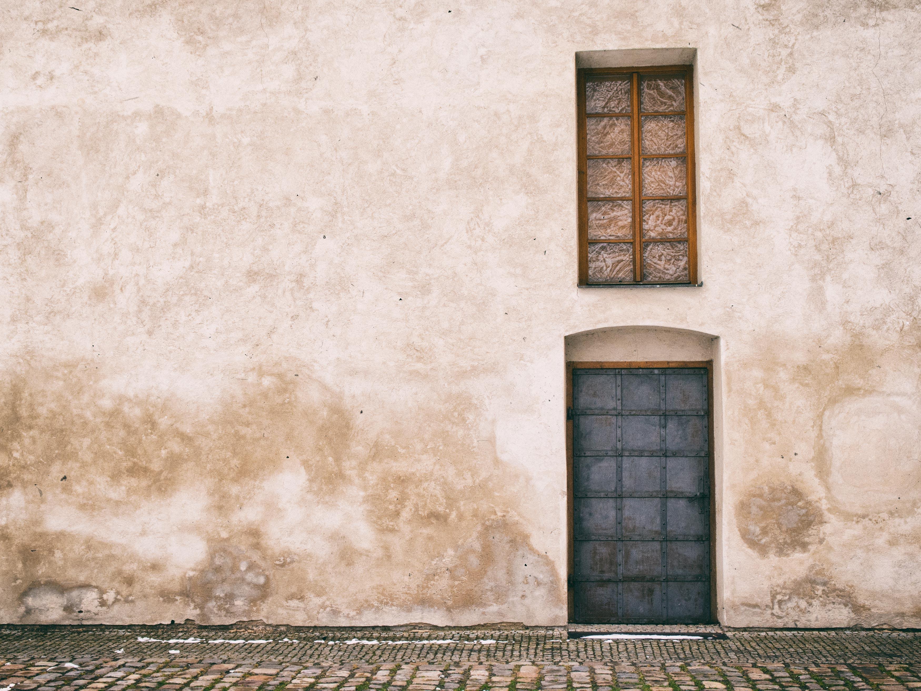 Old door and window in prague free stock photos for Door with window in it