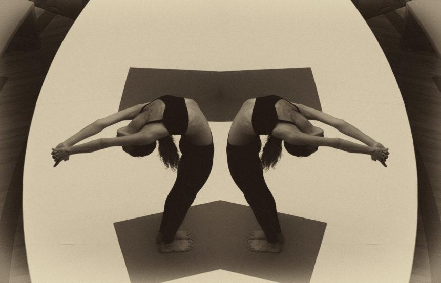 Image of yoga twins girls