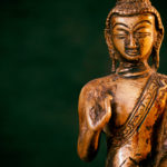 Free image of bronze statue of the Buddha