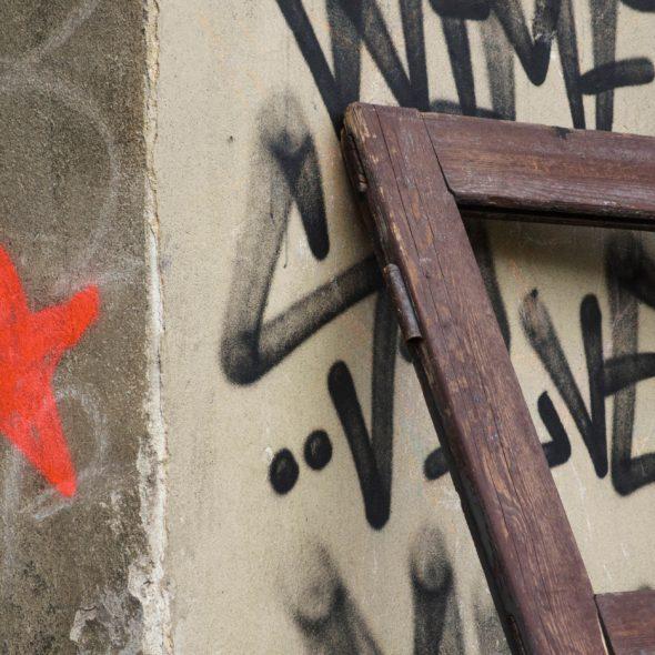 Picture of grunge street in Prague