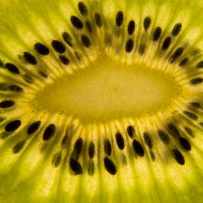Kiwi slice closeup - free image
