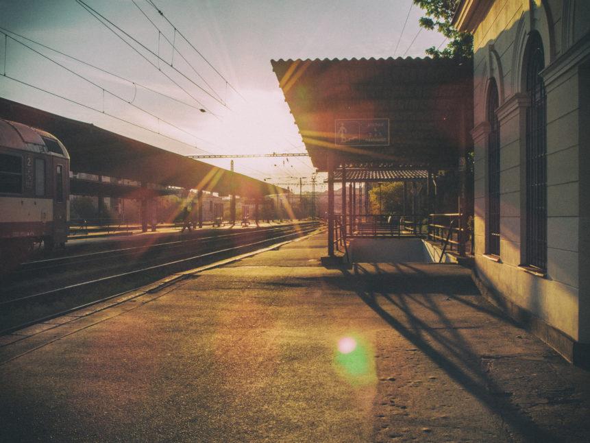 Railway Station At Sunset Free Image On Libreshot
