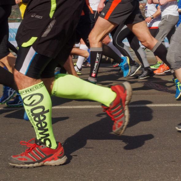 Runners on the marathon