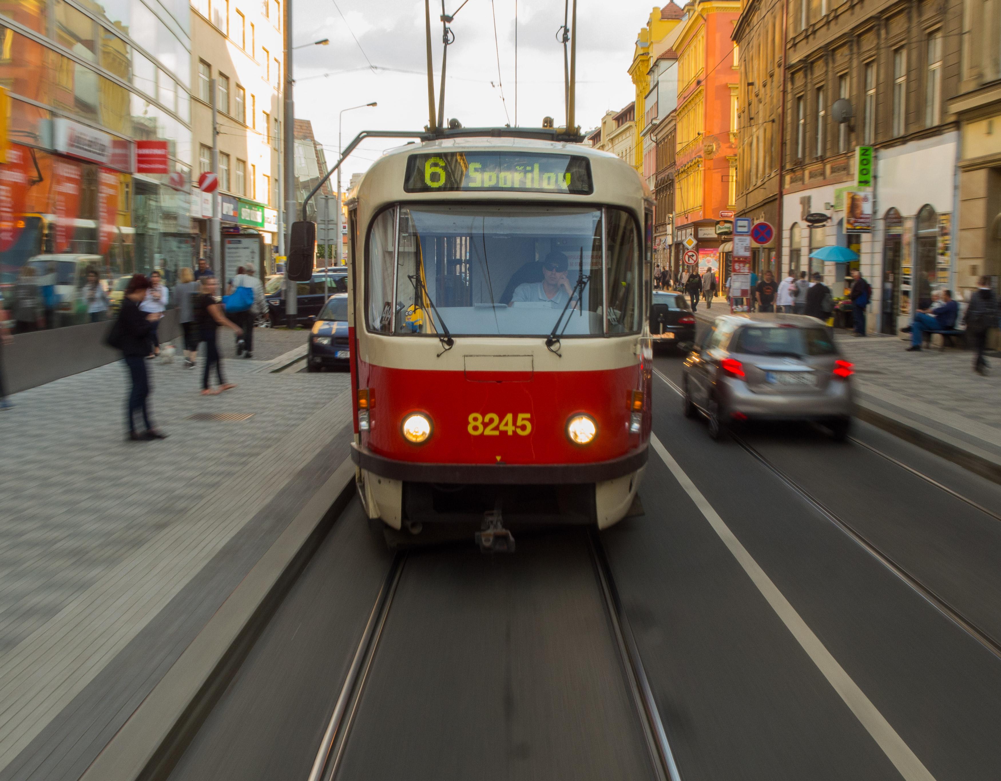 old tram prague street - photo #18