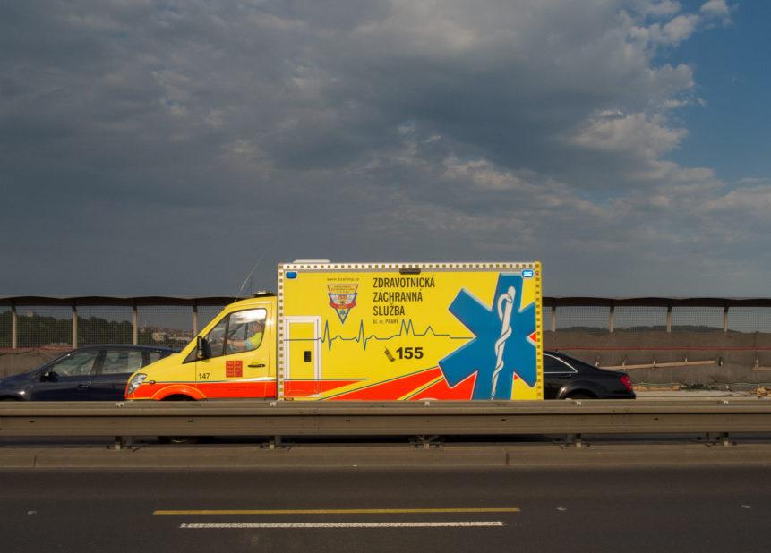 Photo of ambulance on highway
