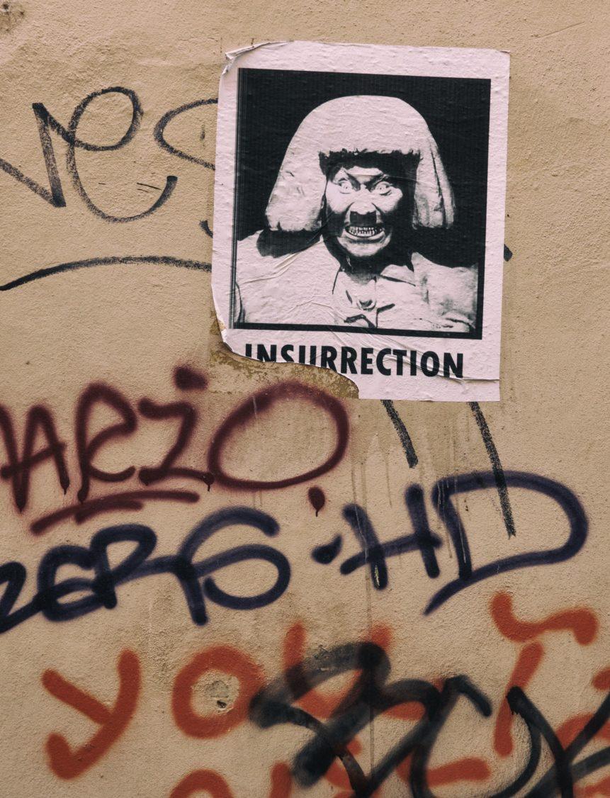 Photo of street art in Prague