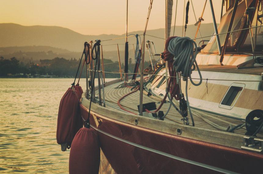 Photo of luxury sailboat in dusk