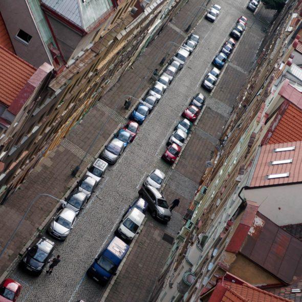 City street full of cars