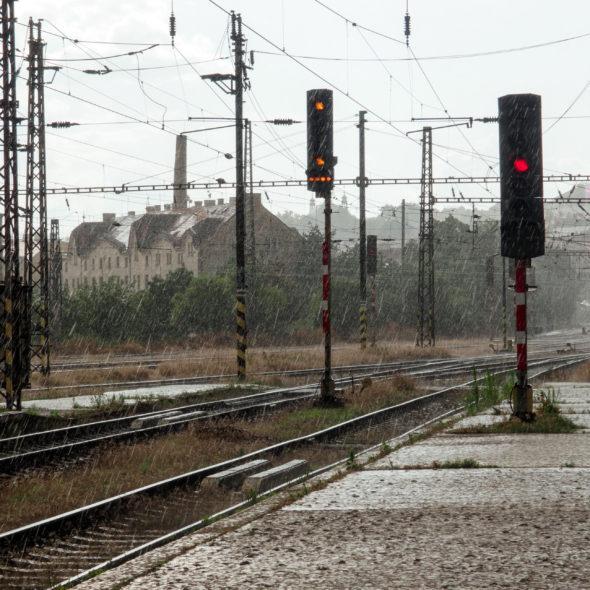 Rain on the station