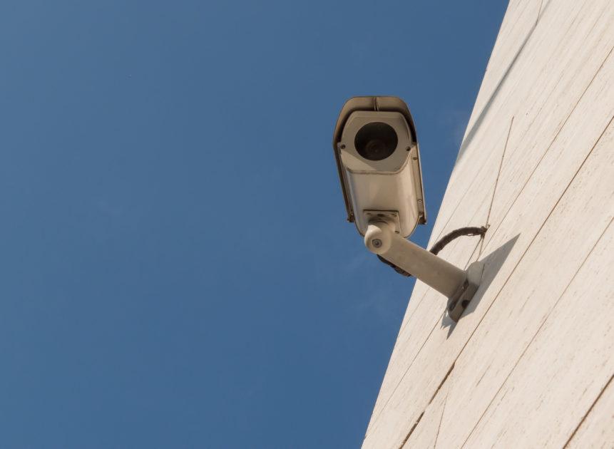 CCTV Camera On Modern Building