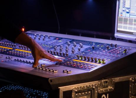Soundman With a Mixer At Concert