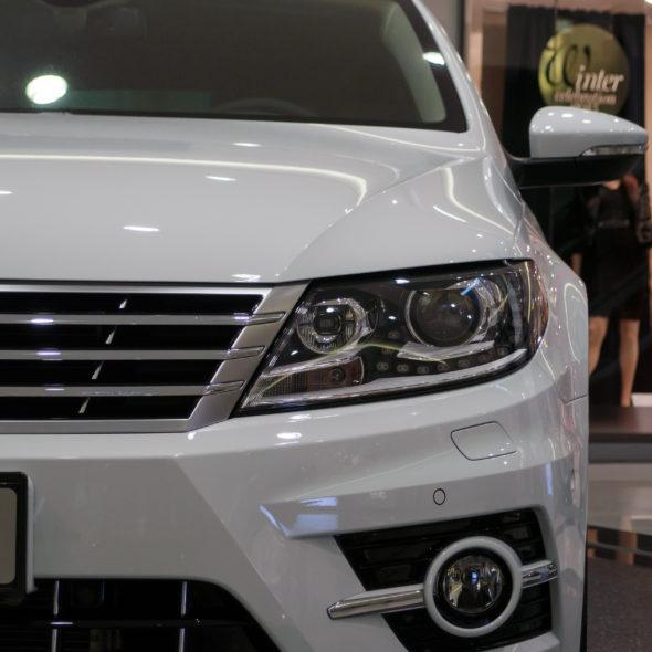 White Car On Autosalon