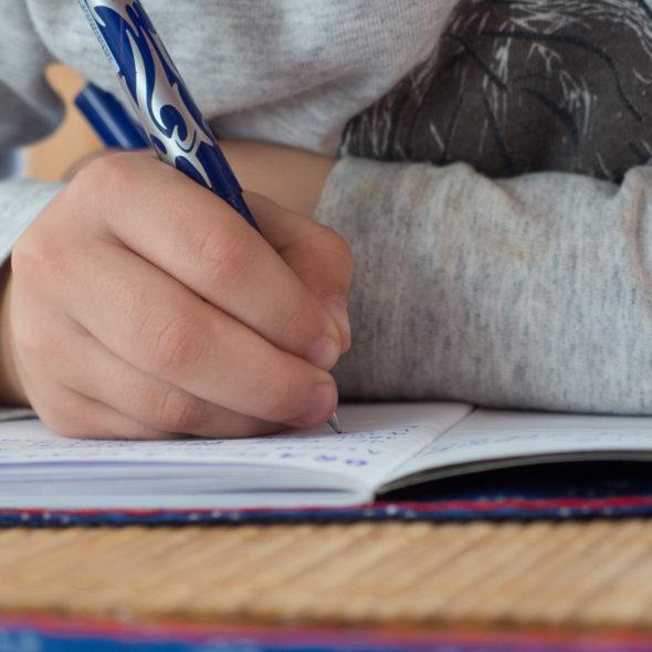Children Writes In School
