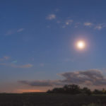 Early Night Sky With Moon
