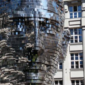 Modern Franz Kafka Statue In Prague