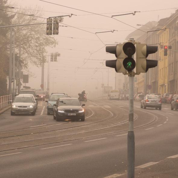 Urban Smog Caused By Cars