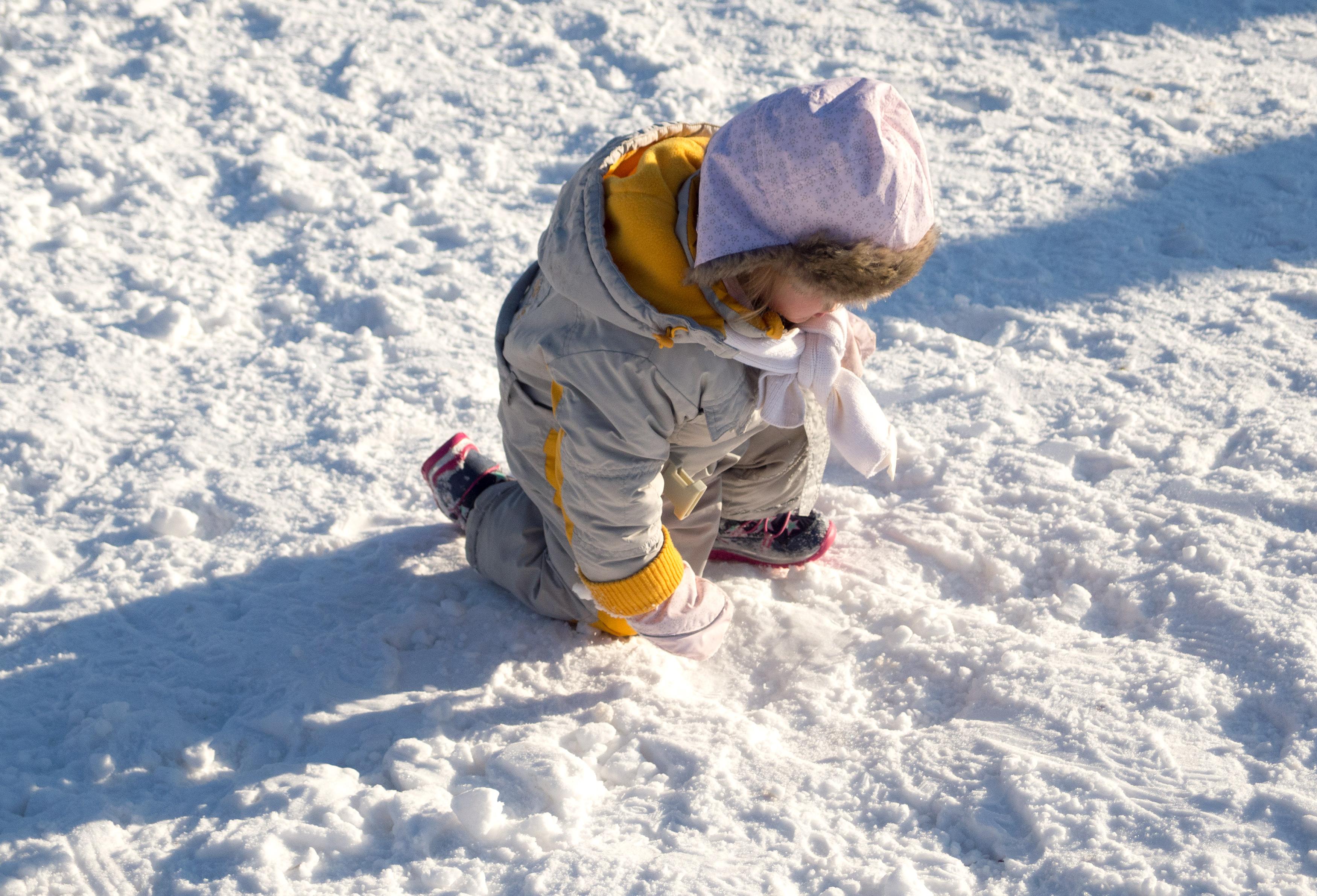 Children On Snow | FREE image on LibreShot