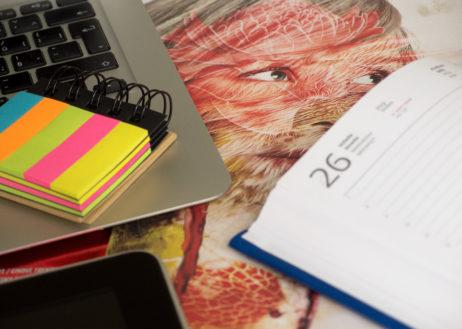 Working Desk Of Creative Designer