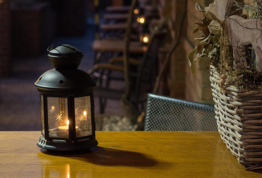 Night Still Life In The Restaurant