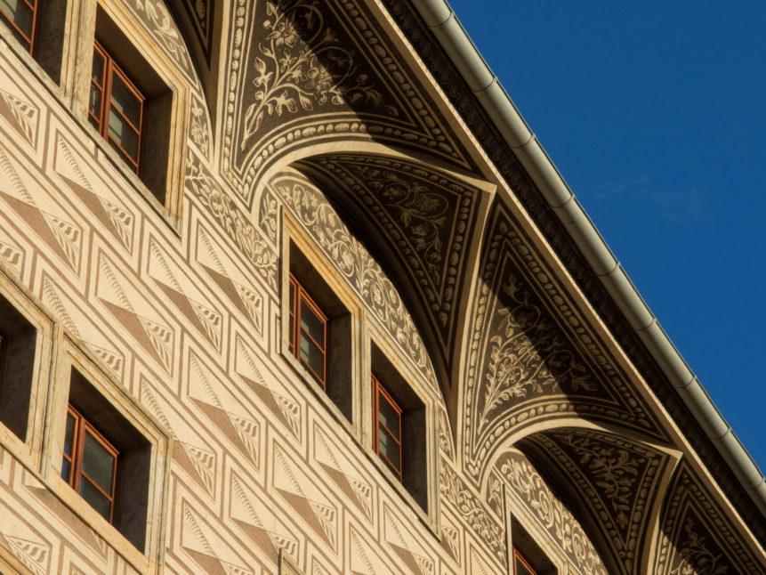old house facade - Sgraffito