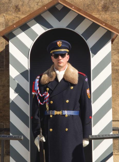 Guard Soldier In Prague Castle