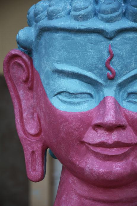 Pink Buddha's Face