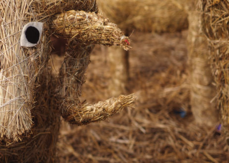 Easter Lamb Made Of Straw