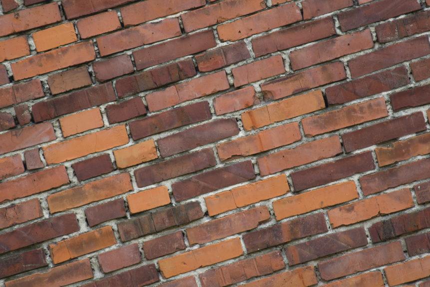 diagonal brick wall