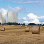 Nuclear power plant between fields