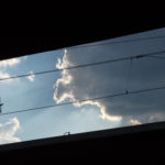 railway station and clouds
