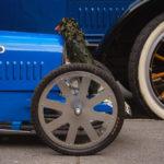 Vintage blue cars