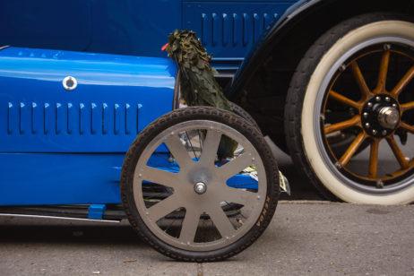 Old Blue Bugatti Type 35 Sports Car