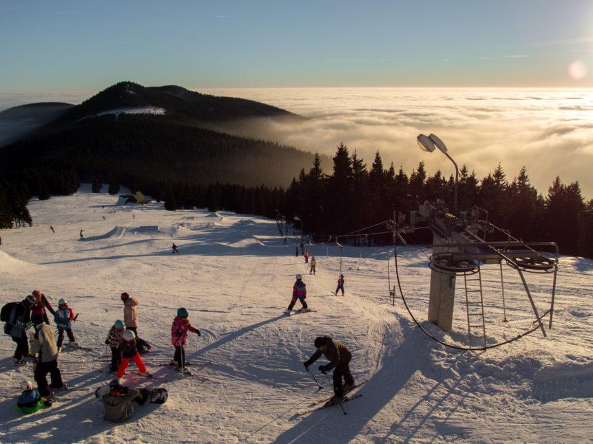 children's ski slope