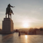 Horse statue in Prague