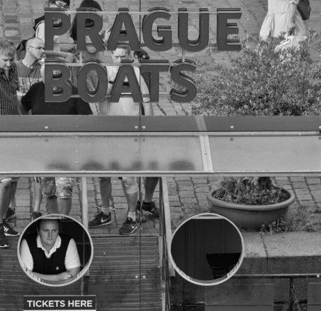 Prague boats street image