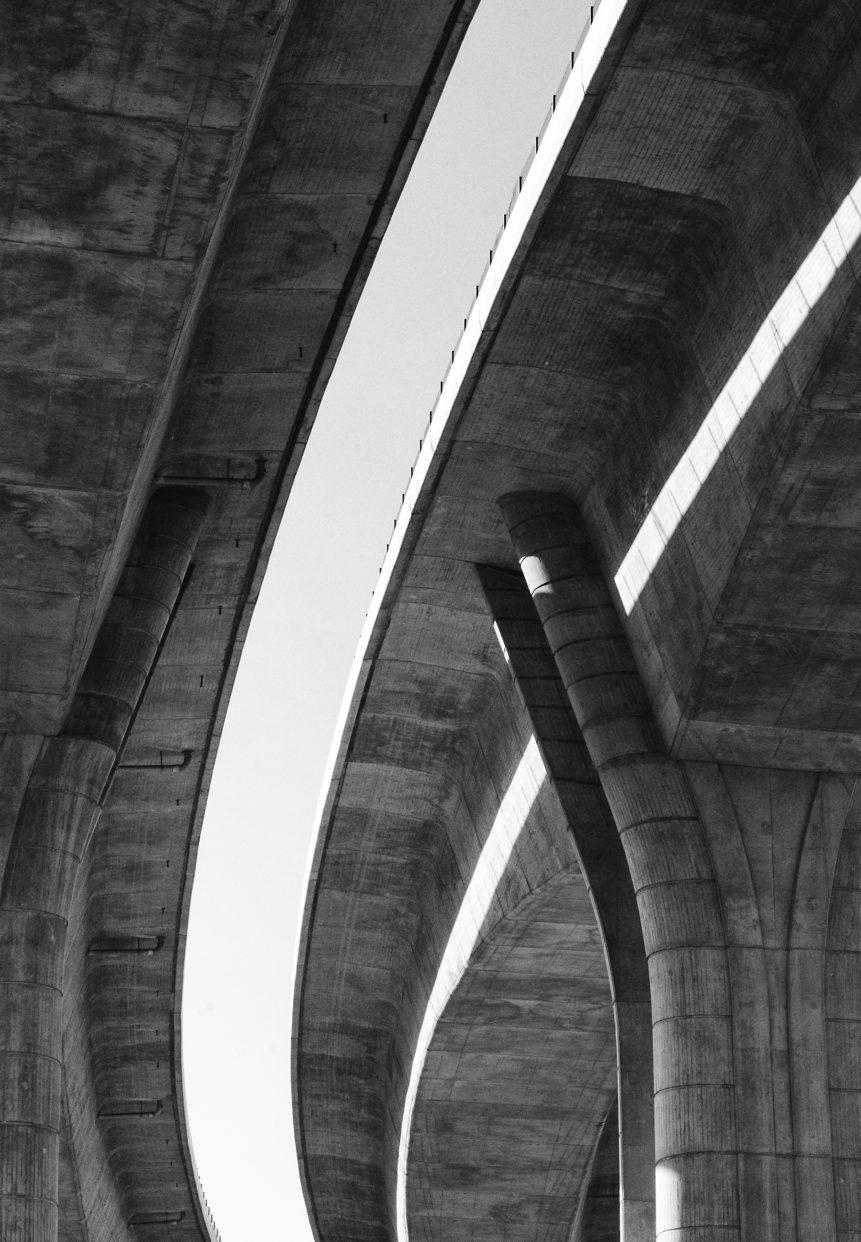 highway bridge bottom view