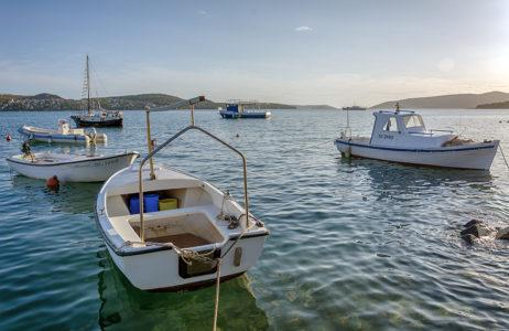 Boats on the Sea in Croatia