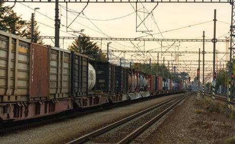 Long Cargo Train