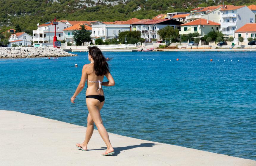 summer croatian beach
