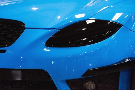 Blue Tuned Car Detail