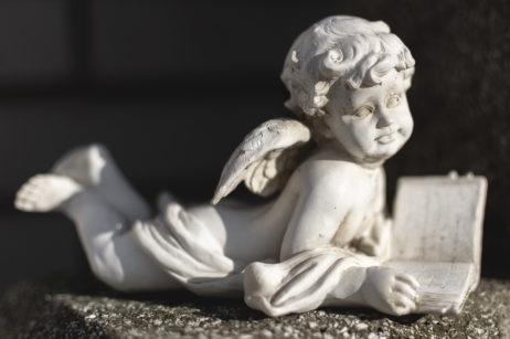 Statue of an Angel on a Grave